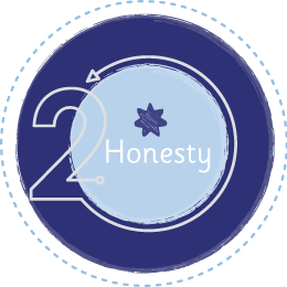 Honesty values icon