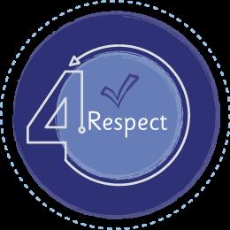 Respect values icon